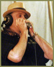 photo of Phil Berkowitz in the studio (photo by Dave Belknap)